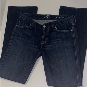 7 for all mankind a pocket jeans dark wash size 28